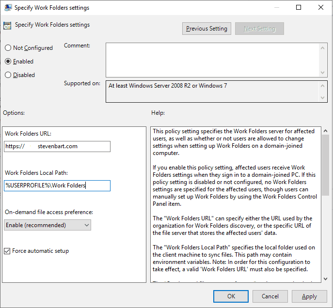 Enable Work Folders - stevenbart com
