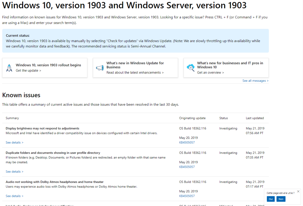Windows 10 1903 (Windows 10 Update May) is available - stevenbart com